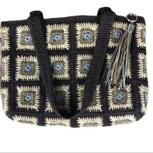 NATURALIZER PURSE GRANNY SQUARE PATTERNED